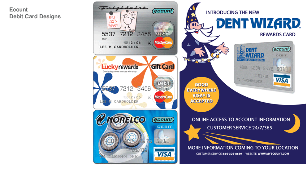 Ecount Debit Card Designs