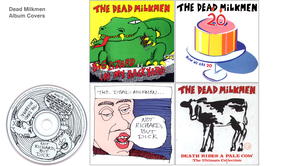 Dead Milkmen Album Covers